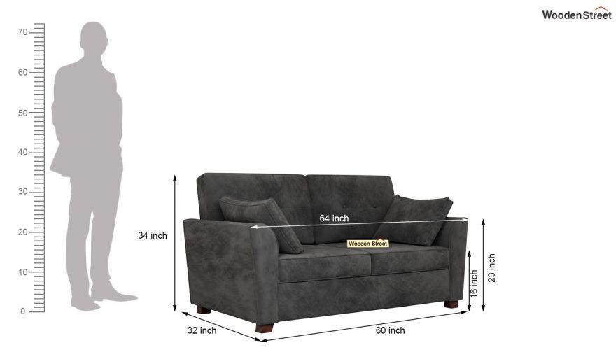 Archerd 3 Seater Sofa (Velvet, Graphite Grey)-13