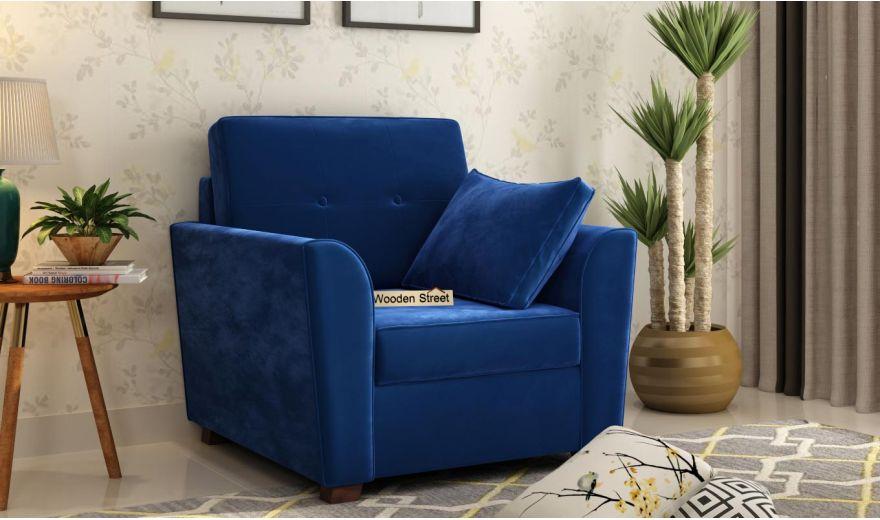 Archerd 3 Seater Sofa (Velvet, Indigo Blue)-7