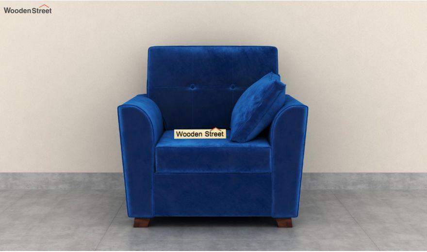 Archerd 3 Seater Sofa (Velvet, Indigo Blue)-8
