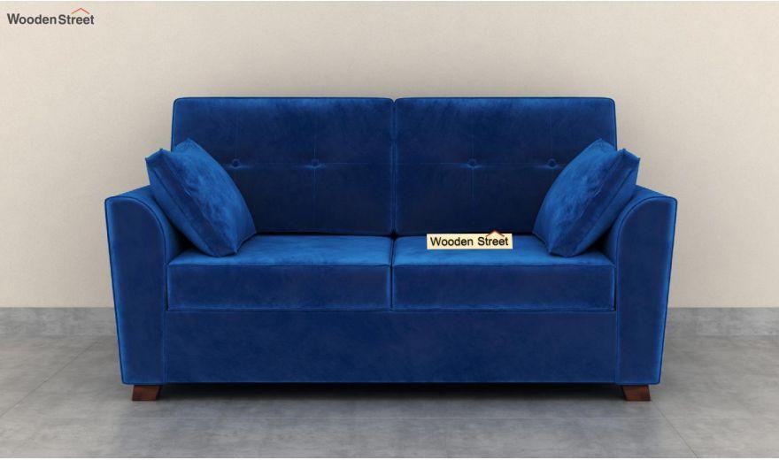 Archerd 3 Seater Sofa (Velvet, Indigo Blue)-10