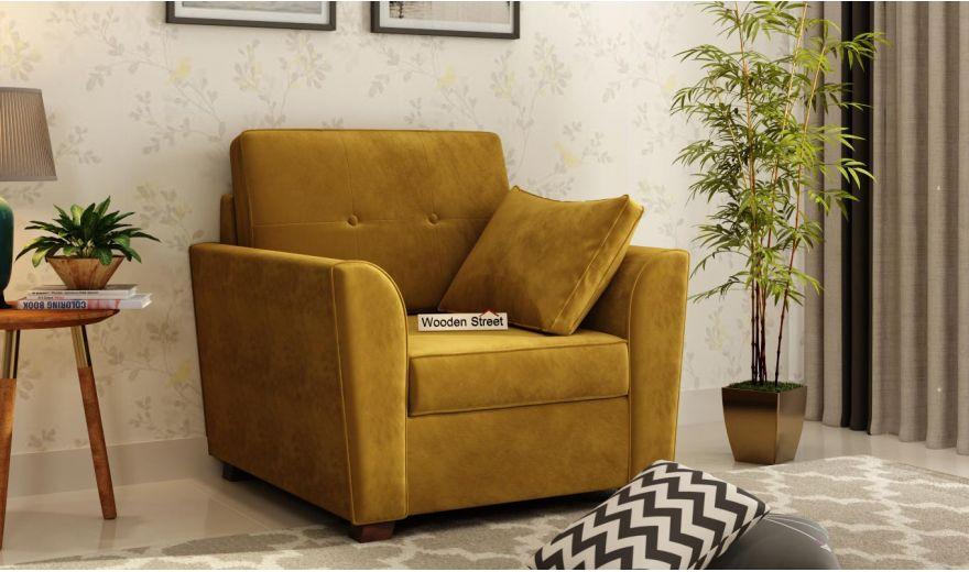 Archerd 3 Seater Sofa (Velvet, Chestnut Brown)-7