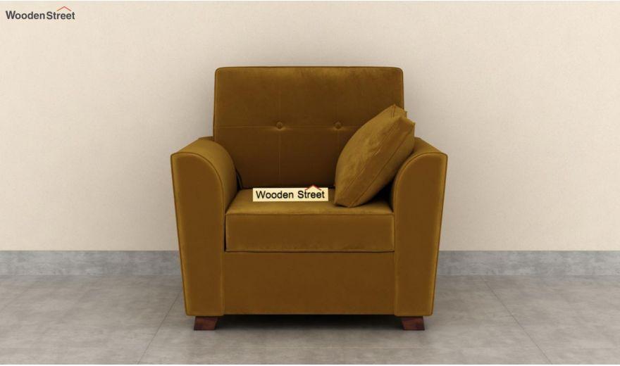 Archerd 3 Seater Sofa (Velvet, Chestnut Brown)-8