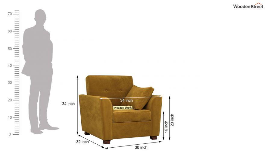 Archerd 3 Seater Sofa (Velvet, Chestnut Brown)-12
