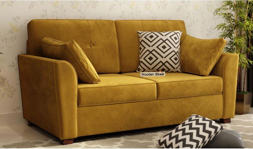 Archerd 3 Seater Sofa (Velvet, Chestnut Brown)-9