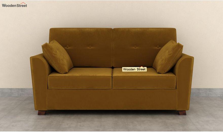 Archerd 3 Seater Sofa (Velvet, Chestnut Brown)-10