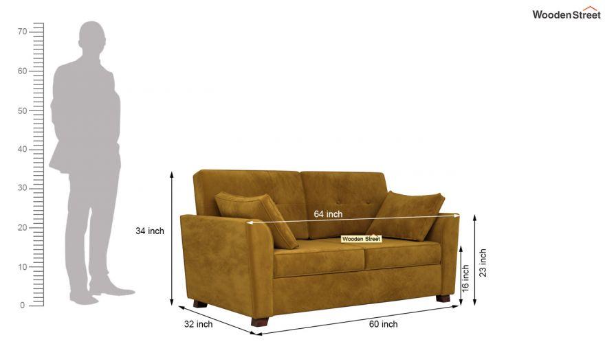 Archerd 3 Seater Sofa (Velvet, Chestnut Brown)-13