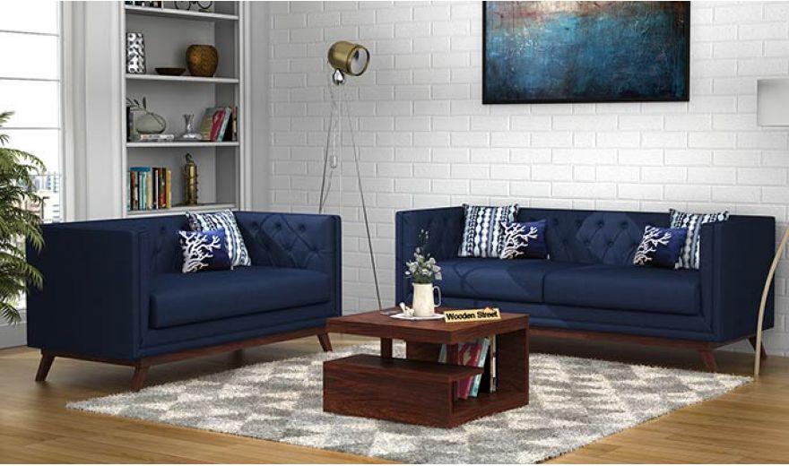 Berlin 3 Seater Sofa (Cotton, Indigo Ink)-11
