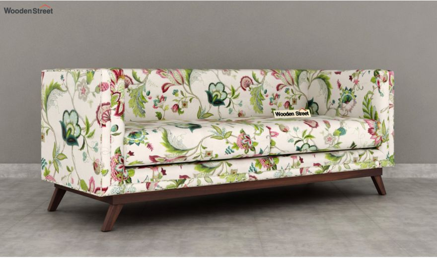 Berlin 3 Seater Sofa (Cotton, Rose Vineyard)-4