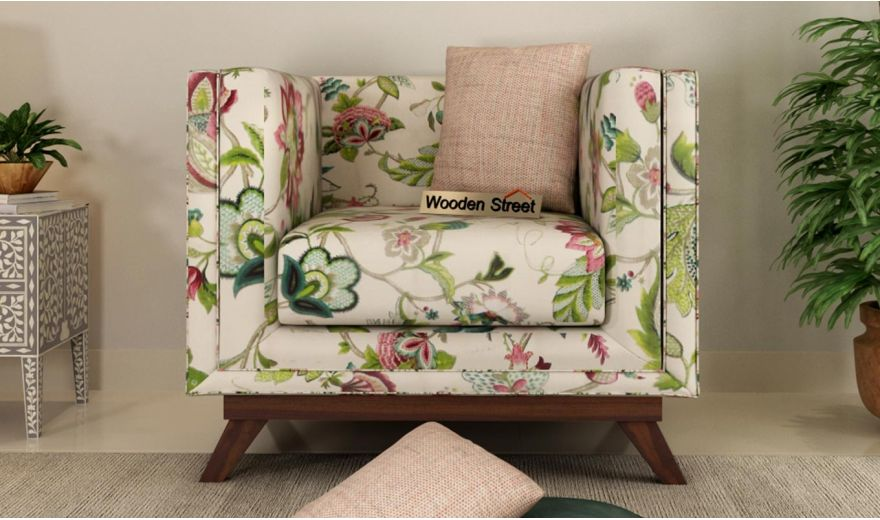 Berlin 3 Seater Sofa (Cotton, Rose Vineyard)-9