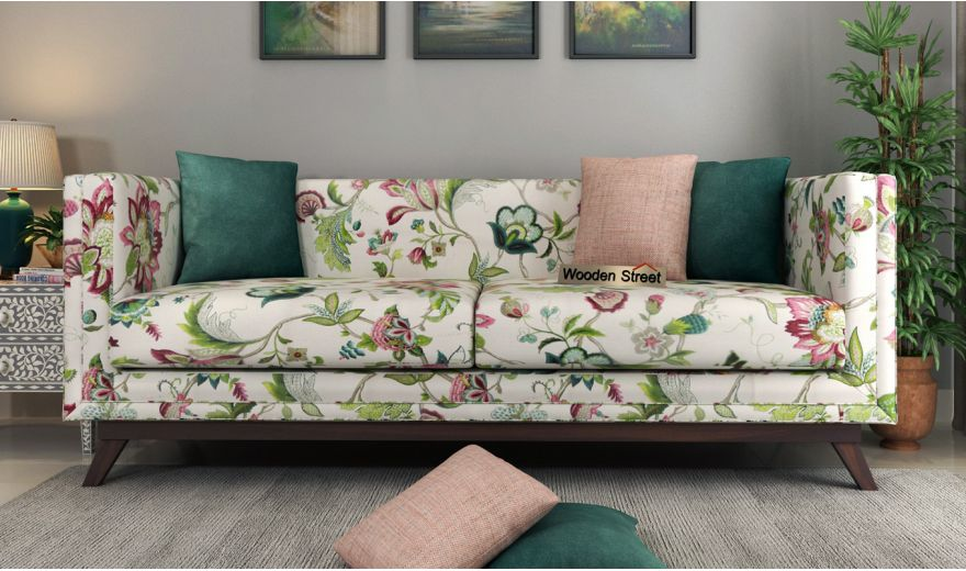 Berlin 3 Seater Sofa (Cotton, Rose Vineyard)-2