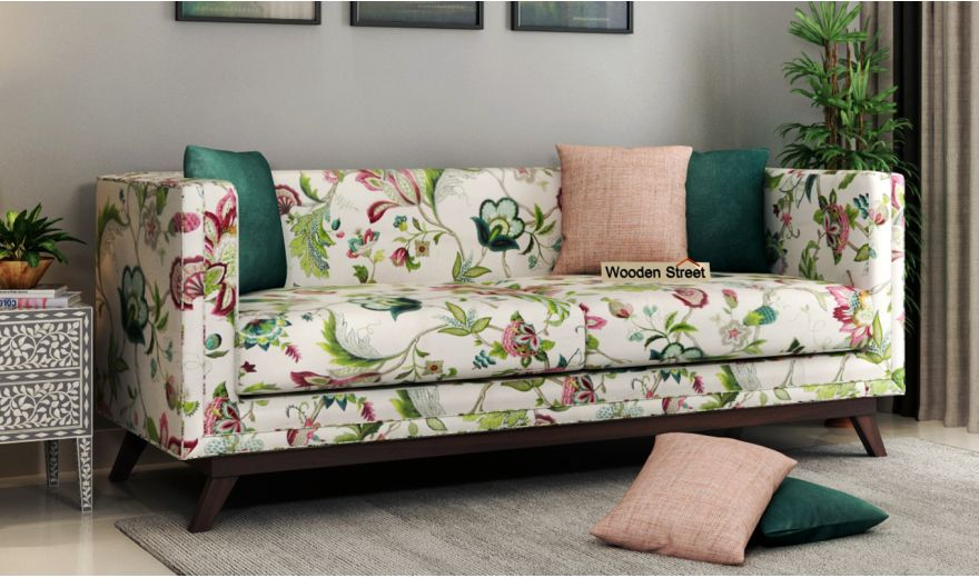 Berlin 3 Seater Sofa (Cotton, Rose Vineyard)-1