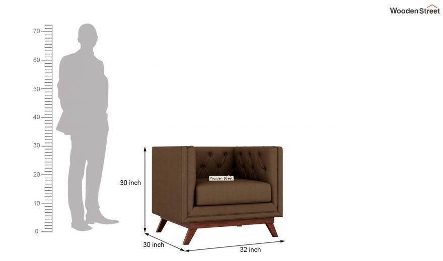 Berlin 2 Seater Sofa (Fabric, Classic Brown)-9