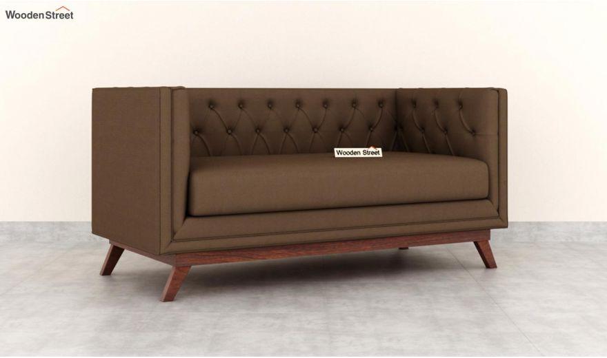 Berlin 2 Seater Sofa (Fabric, Classic Brown)-2