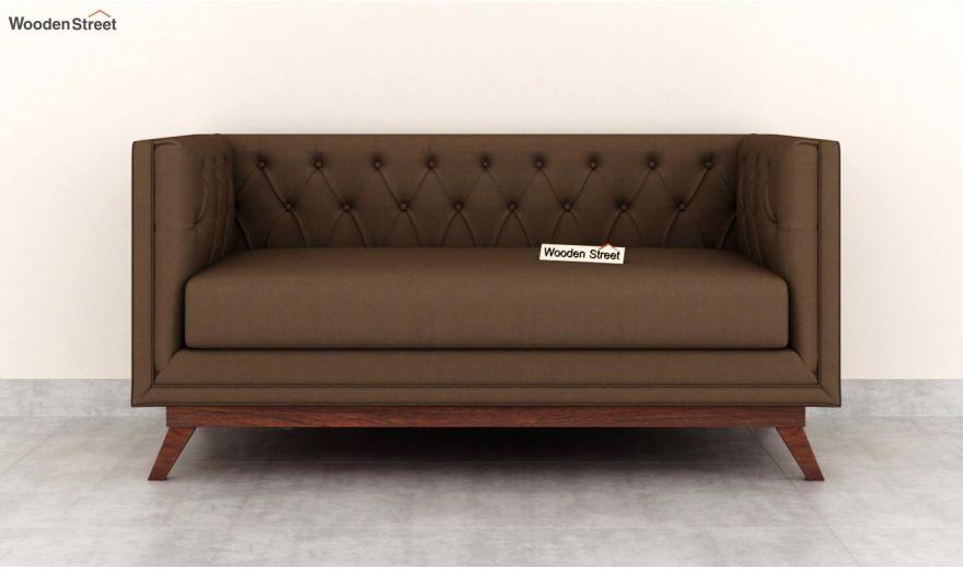 Berlin 2 Seater Sofa (Fabric, Classic Brown)-3