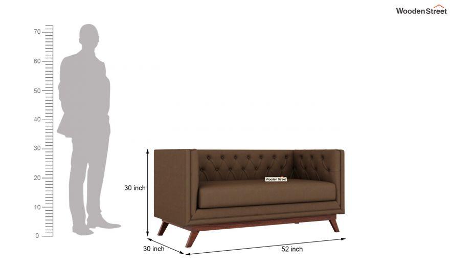Berlin 2 Seater Sofa (Fabric, Classic Brown)-10