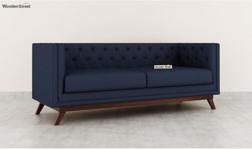 Berlin 3 Seater Sofa (Cotton, Indigo Ink)-4