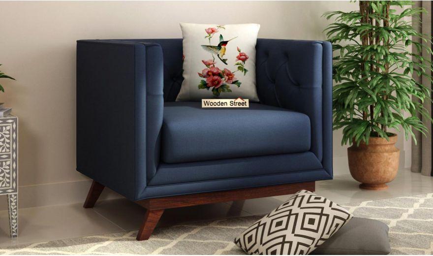 Berlin 3 Seater Sofa (Cotton, Indigo Ink)-7