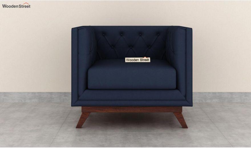 Berlin 3 Seater Sofa (Cotton, Indigo Ink)-8