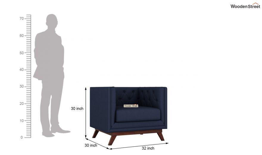 Berlin 3 Seater Sofa (Cotton, Indigo Ink)-13
