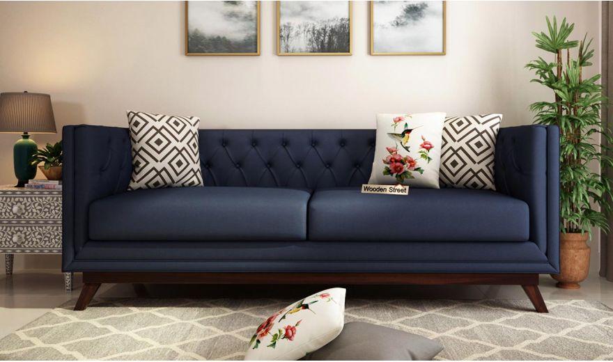 Berlin 3 Seater Sofa (Cotton, Indigo Ink)-2