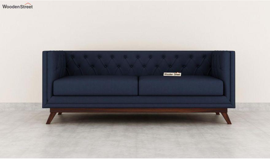 Berlin 3 Seater Sofa (Cotton, Indigo Ink)-5
