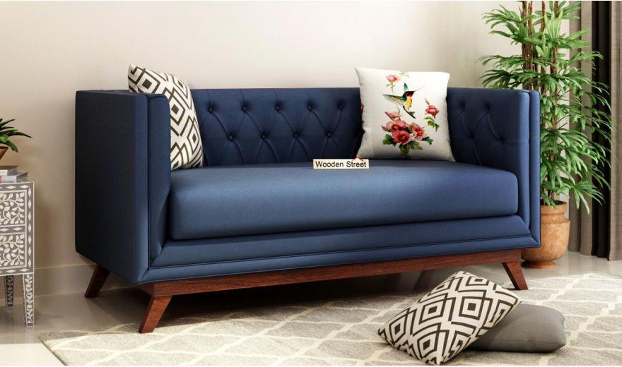 Berlin 3 Seater Sofa (Cotton, Indigo Ink)-9