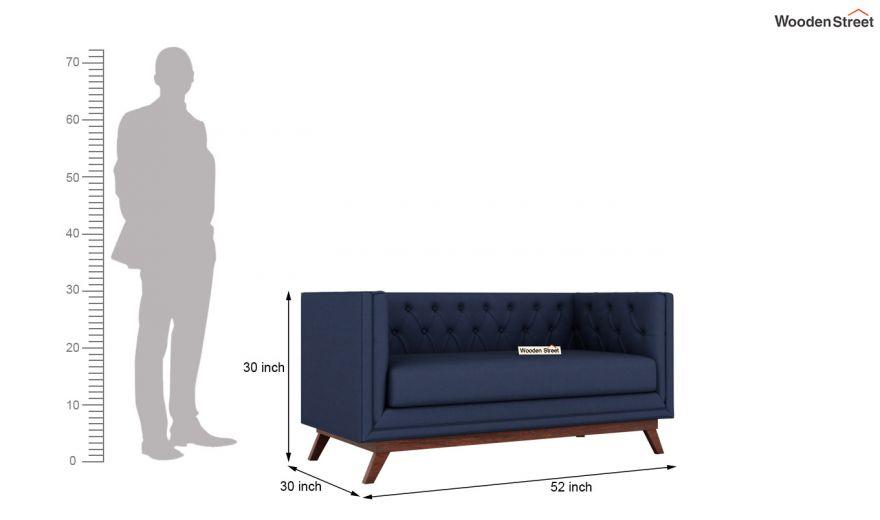 Berlin 3 Seater Sofa (Cotton, Indigo Ink)-14