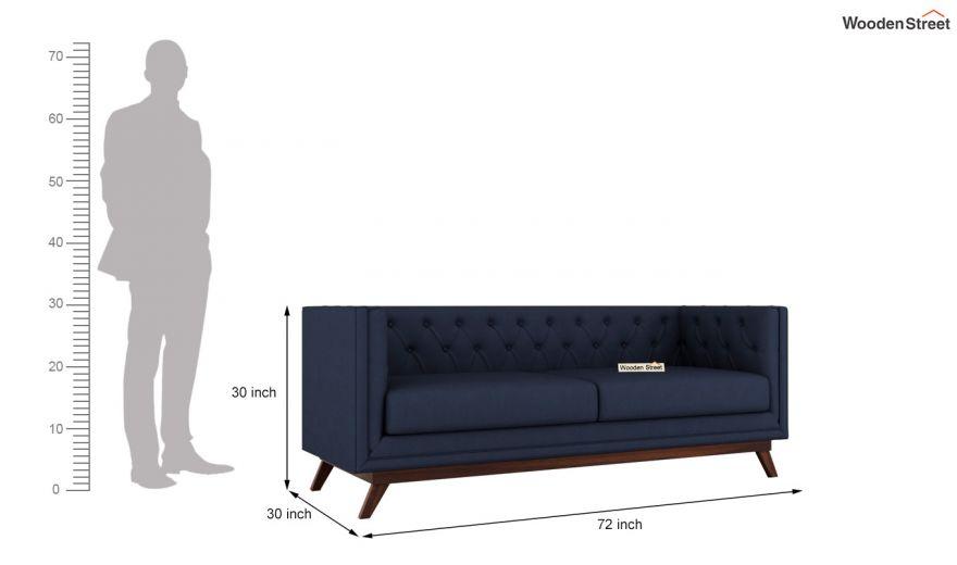 Berlin 3 Seater Sofa (Cotton, Indigo Ink)-15