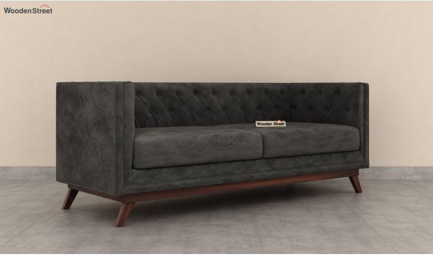 Berlin 3 Seater Sofa (Velvet, Graphite Grey)-4