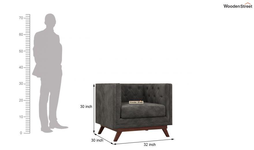 Berlin 3 Seater Sofa (Velvet, Graphite Grey)-12