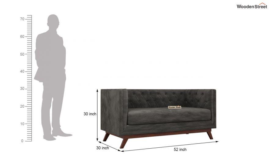 Berlin 3 Seater Sofa (Velvet, Graphite Grey)-13
