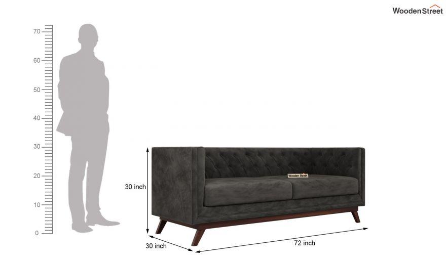 Berlin 3 Seater Sofa (Velvet, Graphite Grey)-14