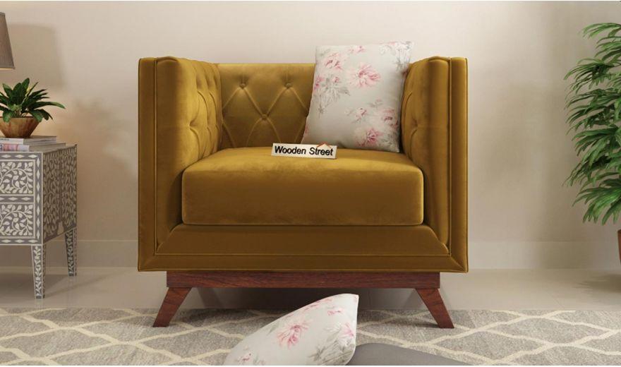 Berlin 3 Seater Sofa (Velvet, Chestnut Brown)-9