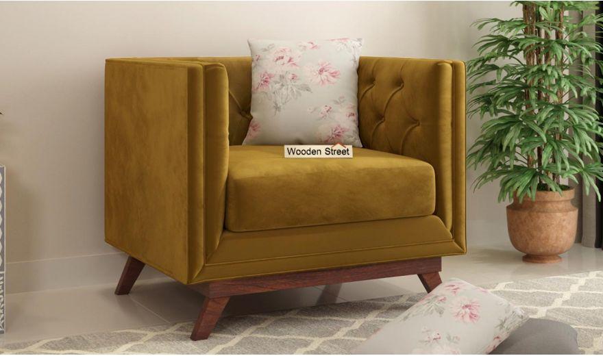 Berlin 3 Seater Sofa (Velvet, Chestnut Brown)-8