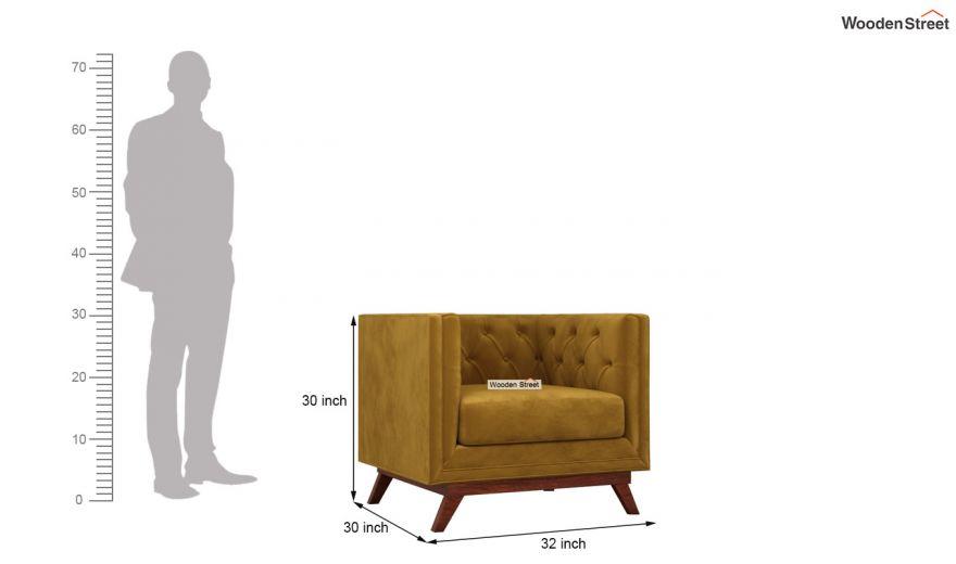 Berlin 3 Seater Sofa (Velvet, Chestnut Brown)-12