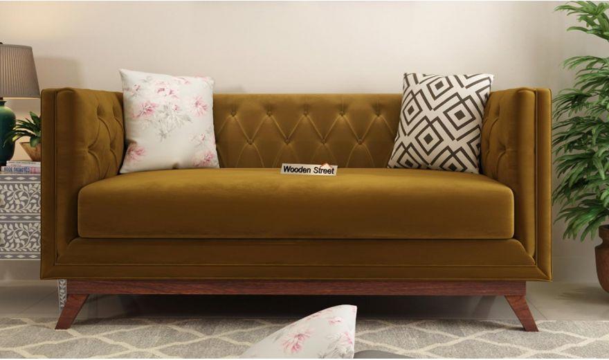 Berlin 3 Seater Sofa (Velvet, Chestnut Brown)-10