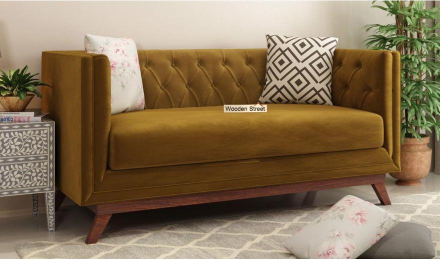 Berlin 3 Seater Sofa (Velvet, Chestnut Brown)-11