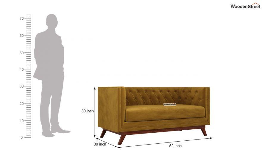 Berlin 3 Seater Sofa (Velvet, Chestnut Brown)-13