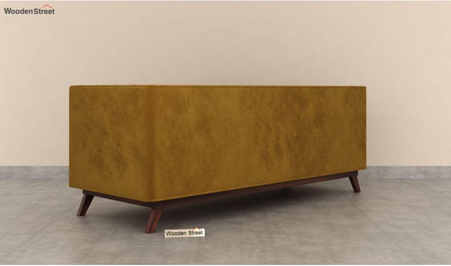 Berlin 3 Seater Sofa (Velvet, Chestnut Brown)-6