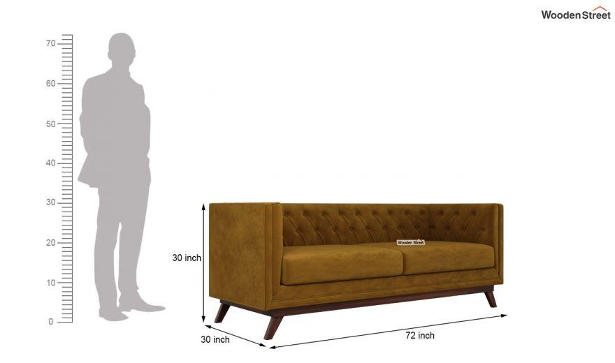Berlin 3 Seater Sofa (Velvet, Chestnut Brown)-14