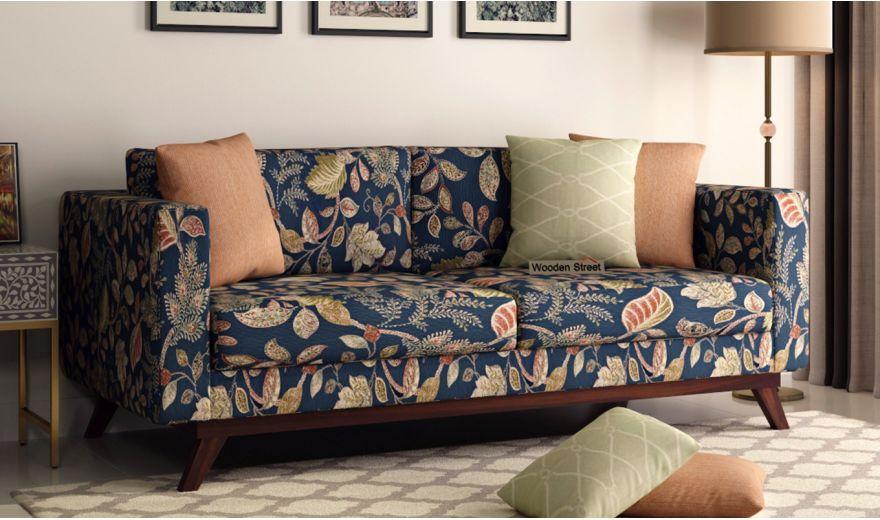 Casper 2 Seater Sofa (Fabric, Dusky Leaf)-7