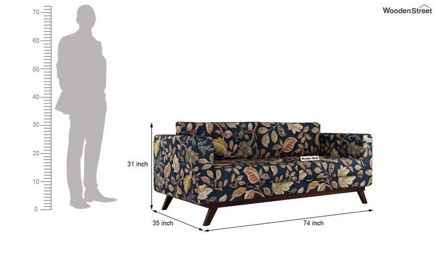 Casper 2 Seater Sofa (Fabric, Dusky Leaf)-11