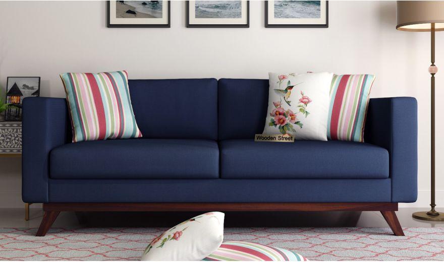 Casper 2 Seater Sofa (Fabric, Indigo Ink)-8