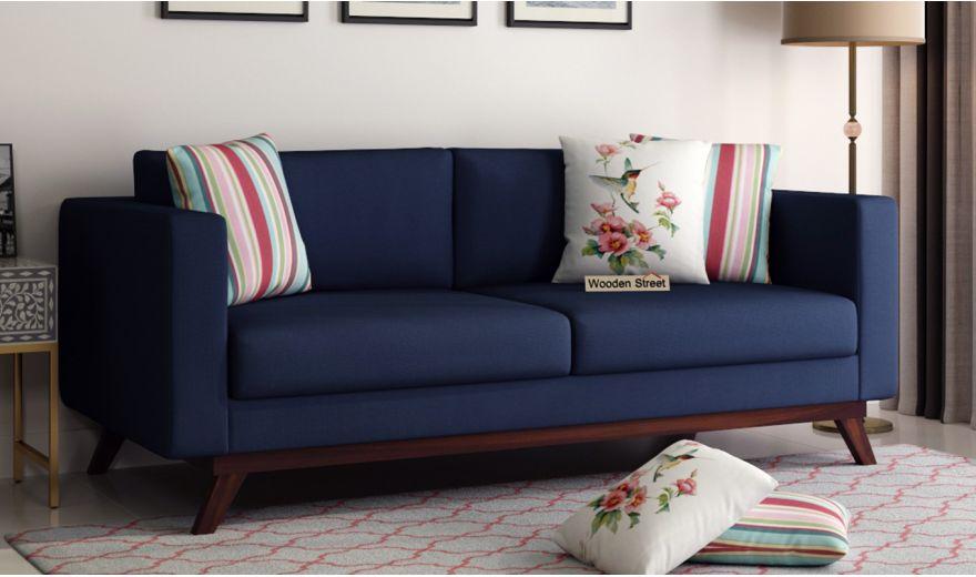 Casper 2 Seater Sofa (Fabric, Indigo Ink)-7
