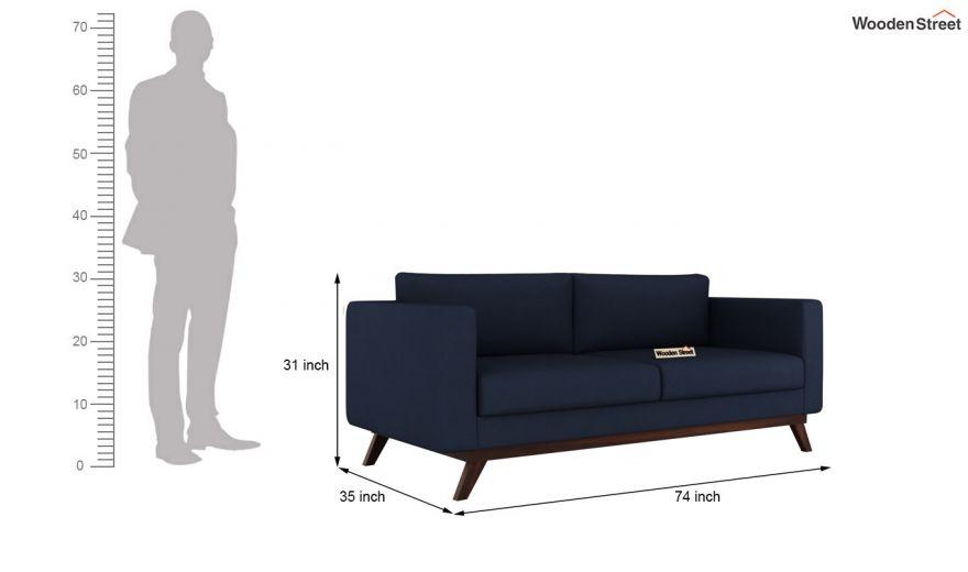 Casper 2 Seater Sofa (Fabric, Indigo Ink)-11
