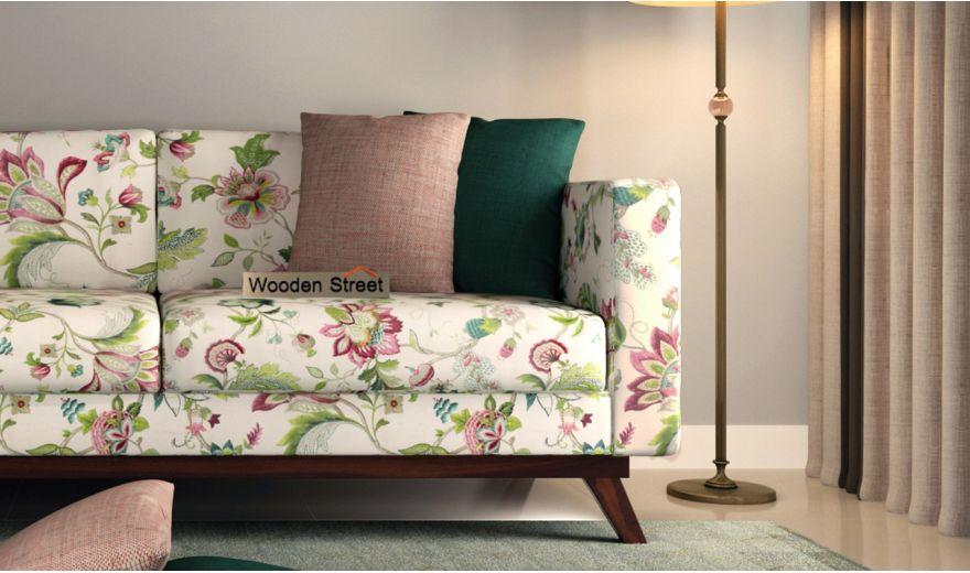 Casper 3 Seater Sofa (Cotton, Rose Vineyard)-3