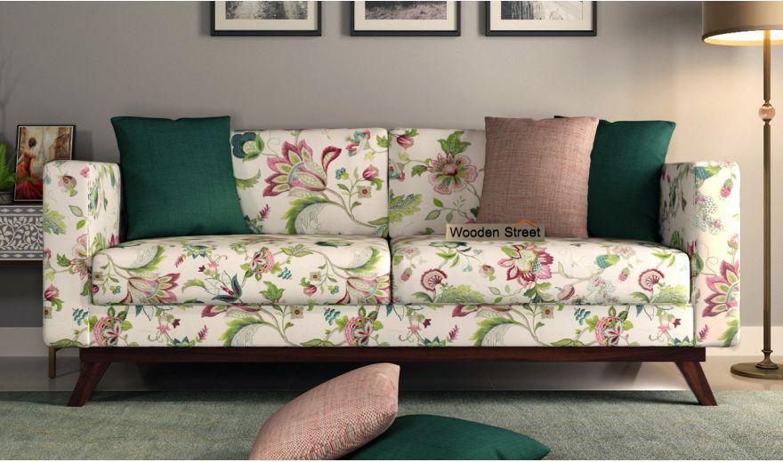 Casper 3 Seater Sofa (Cotton, Rose Vineyard)-2