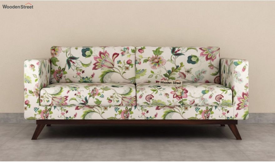 Casper 3 Seater Sofa (Cotton, Rose Vineyard)-5