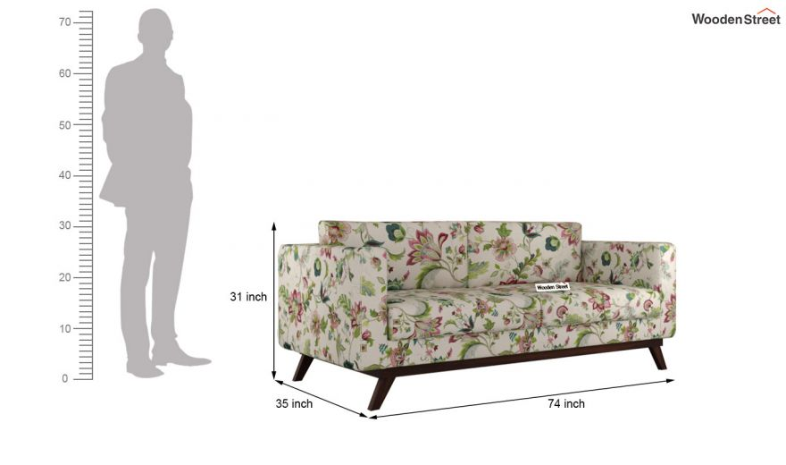 Casper 3 Seater Sofa (Cotton, Rose Vineyard)-8