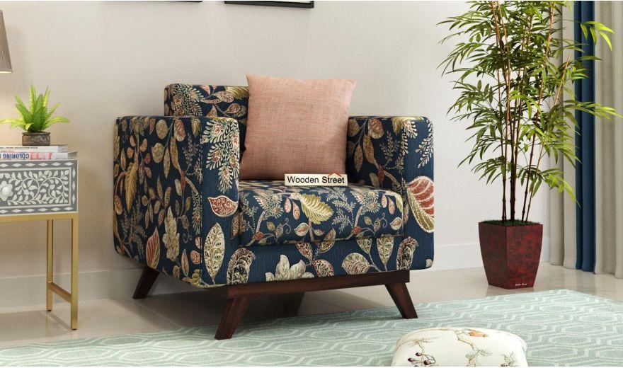 Casper 2 Seater Sofa (Fabric, Dusky Leaf)-5